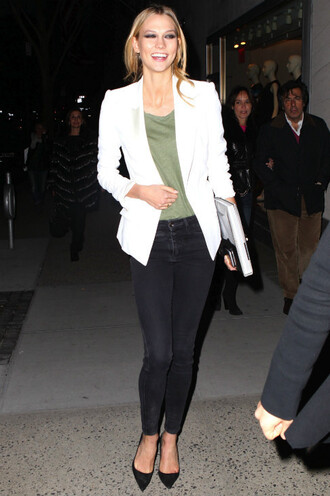 jacket blazer jeans karlie kloss