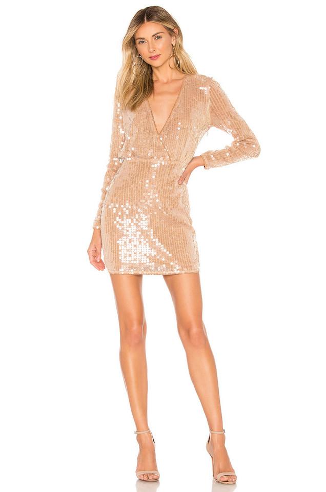 MAJORELLE Claudina Mini Dress in blush