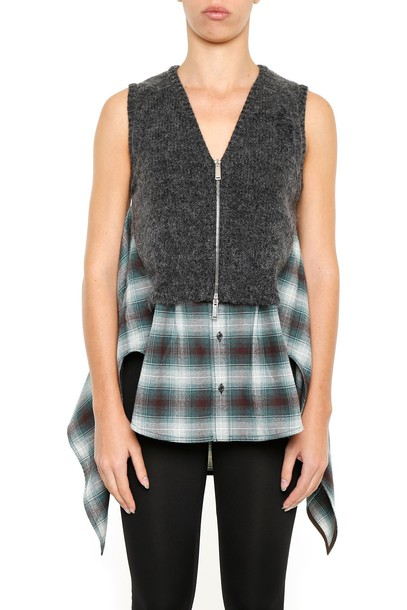 Dsquared2 vest wool black green jacket