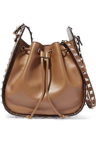 tan bag shoulder bag leather