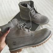 shoes,boots,timberlands,timberland,timberlands boots,grey,grey timberlands