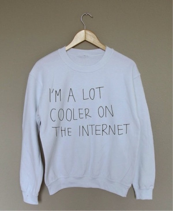 sweater style grey white quote on it cooler sleeves