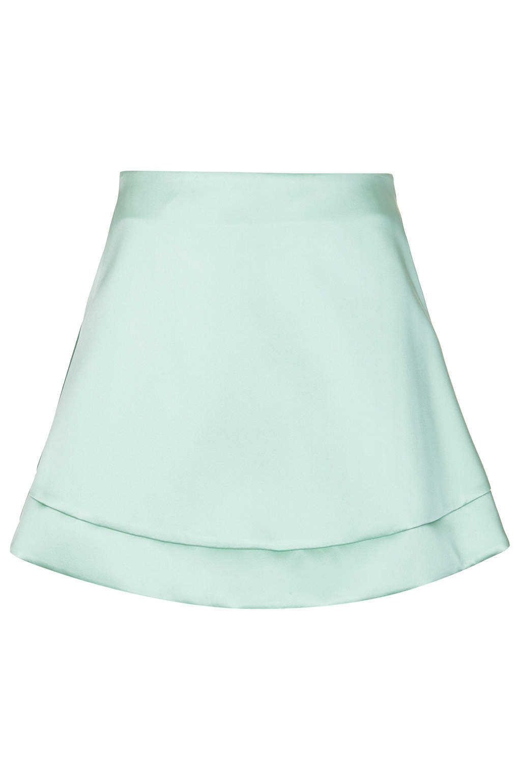 Edition Mint Satin A-line Skirt - Clothing