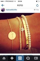 jewels,gold,bracelets,pearl,lucky