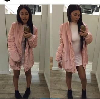 jacket pink bomber jacket pink bomber jacket oversized long