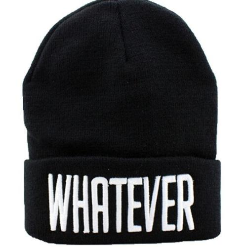 Creative Fashion Women MEN HIP Cool Trendy Whatever Letters Beanie HAT CAP Z | eBay
