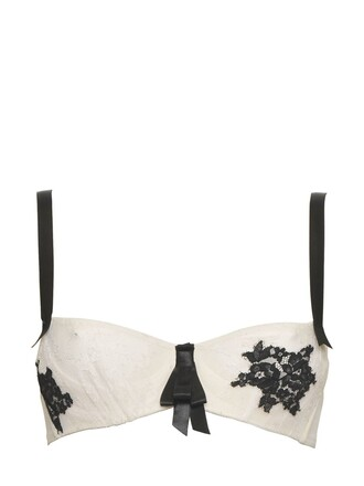 bra lace white black underwear