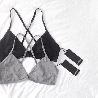 underwear summer black grey bralette forever 21 bra sportswear blouse top