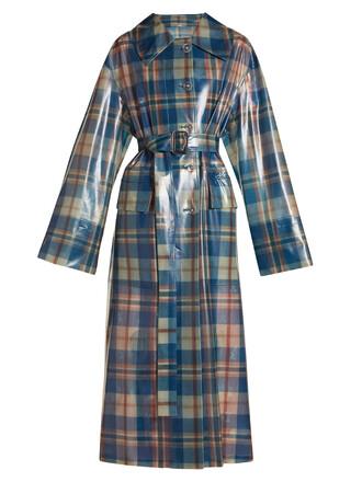 coat tartan navy