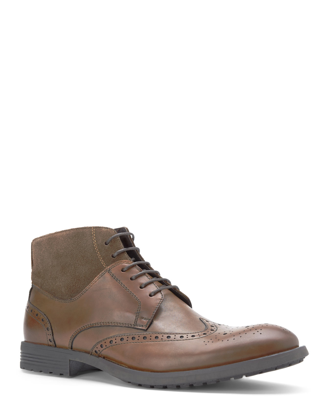 VINCE CAMUTO Brown Dario Wingtip Boots | Shop Men's Clothing & Accessories | Century 21 Department Store | Century 21 Department Store