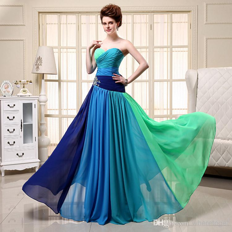Discount stunning sweetheart colored a line chiffon prom dresses online with $66.27/piece