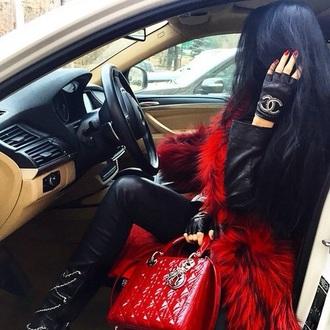 bag red bag dior lady dior bag