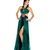 SALE! Mac Duggal 2013 Prom Dresses - Emerald Leopard Print Chiffon Halter Prom Gown - Unique Vintage - Prom dresses, retro dresses, retro swimsuits.