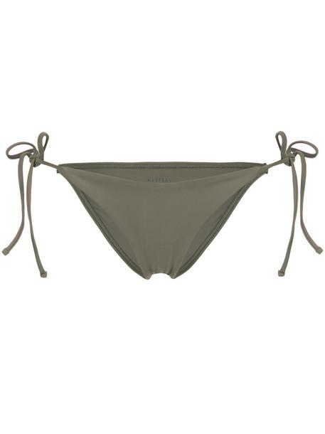 MATTEAU bikini bikini bottoms string bikini women spandex green swimwear