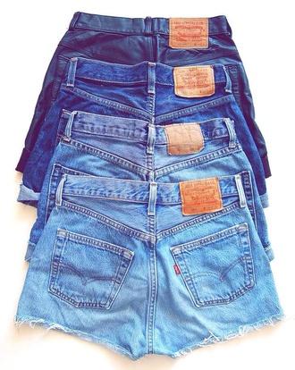 shorts levi's highwaisted denim