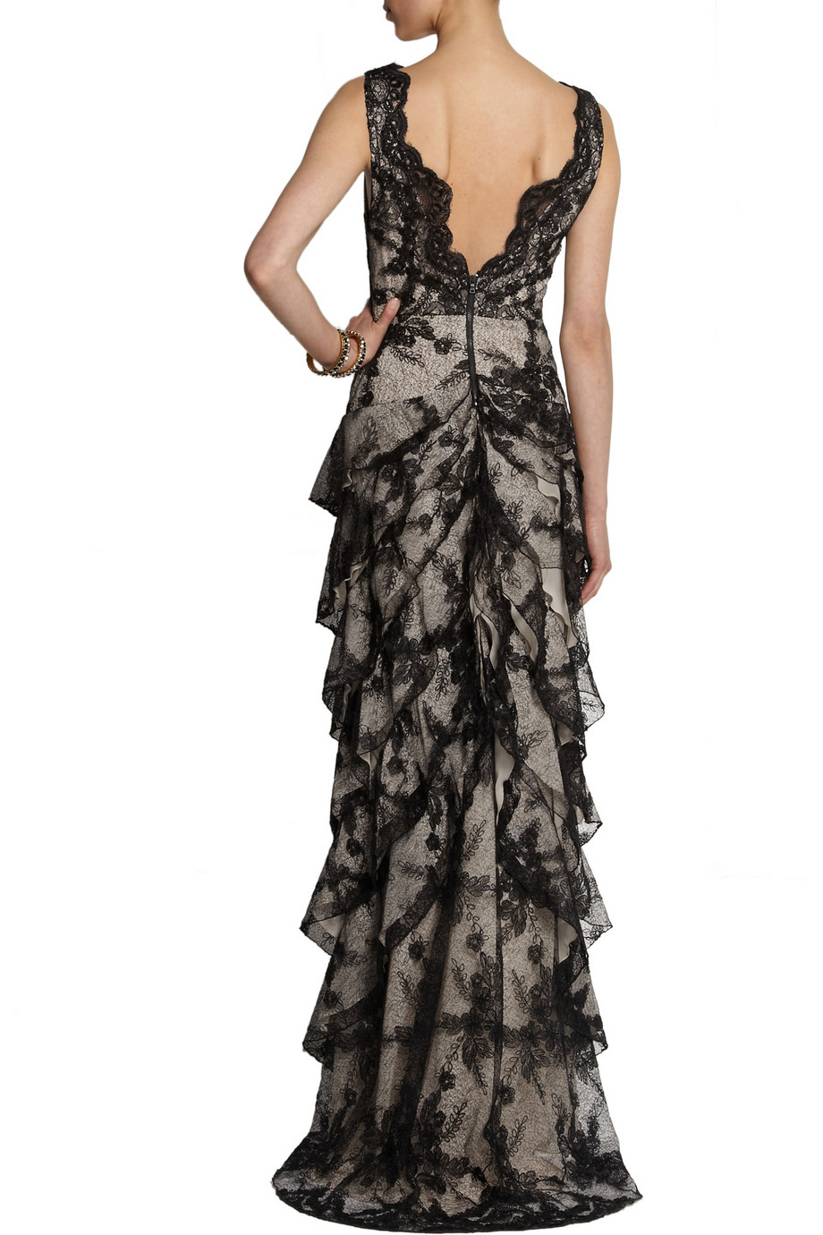 Alice   olivia powell tiered lace gown – 55% at the outnet.com