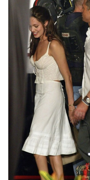 skirt angelina jolie white