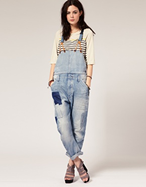 G star repair patch dungarees at asos