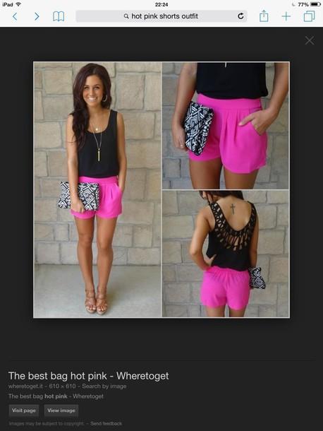 pants hot pink shorts