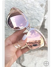 sunglasses,rose gold
