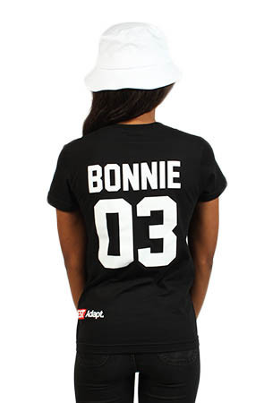 Adapt Advancers — Breezy Excursion X Adapt :: Down To Ride (Bonnie) (Women's Black Tee)