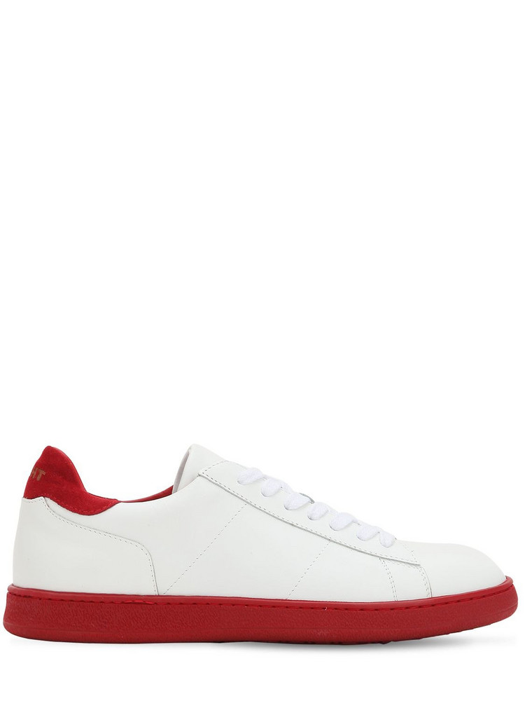 ROV Leather Low Top Sneakers in red / white