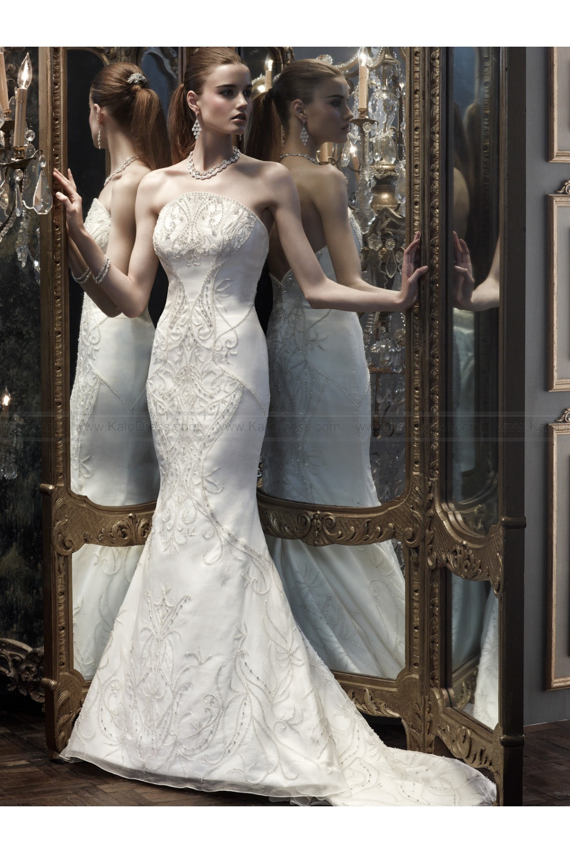 Exquisite Mermaid Bridal Dress CB Couture By Casablanca B066 - Wedding Dresses 2014 New - Formal Wedding Dresses