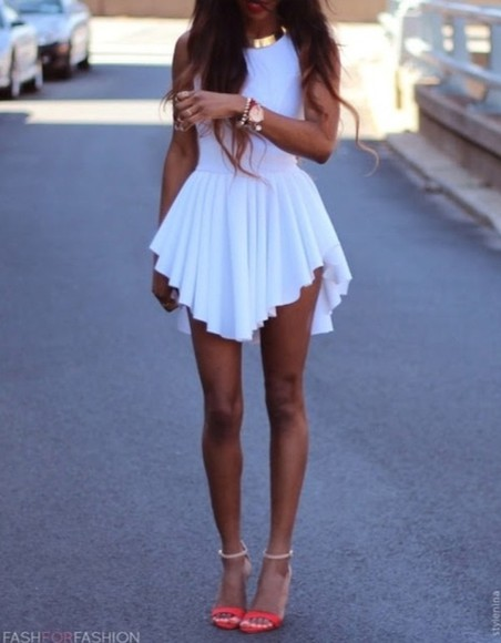 dress white dress girly little dress beautiful dress lovely dress white/gold