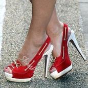 shoes,red,red high heels,red heels,suede,high heels,white,high heel sandals