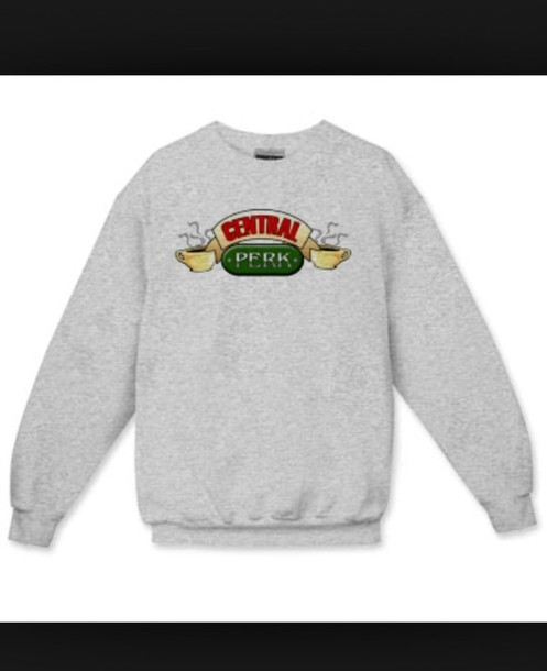 sweater centrel perk sweatshirtt from the tv show friends grey sweater friends TV show central perk