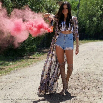 shoes madison beer madison beer spartiate cardigan floral transperant long sleeves