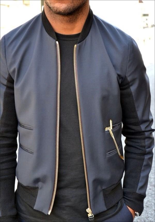 menswear mens jacket blouse jacket mens baseball jacket coat black jacket bomber jacket navy cuir noir mens coat leather gold