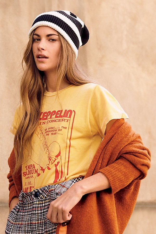 Led Zeppelin Tampa Stadium Burnout Tee by Daydreamer at Free People
