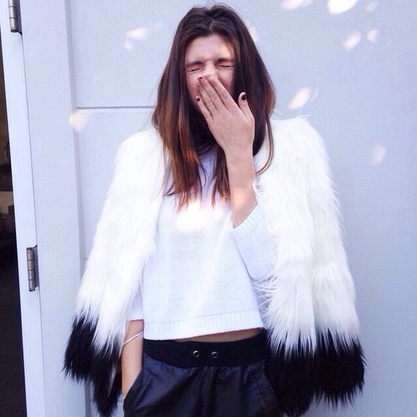 coat white blue white coat tumblr outfit