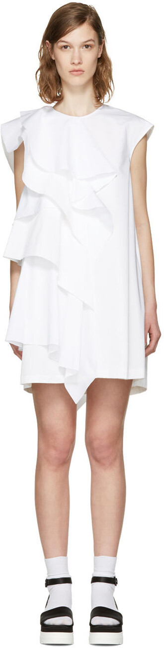 dress ruffle white