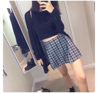 skirt grunge hipster dark fashion goth style