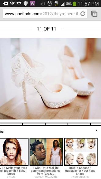 shoes ivory wedding clothes crystal quartz swarovski beads pearl wedding shoes
