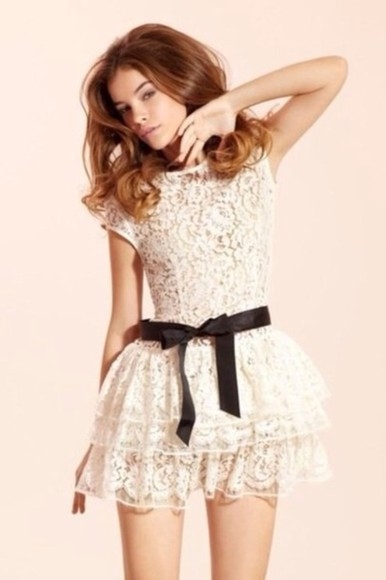 dress cream lace