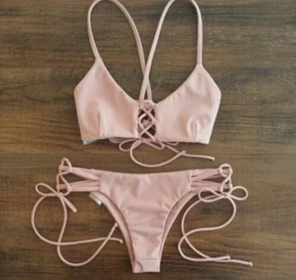 swimwear light pink