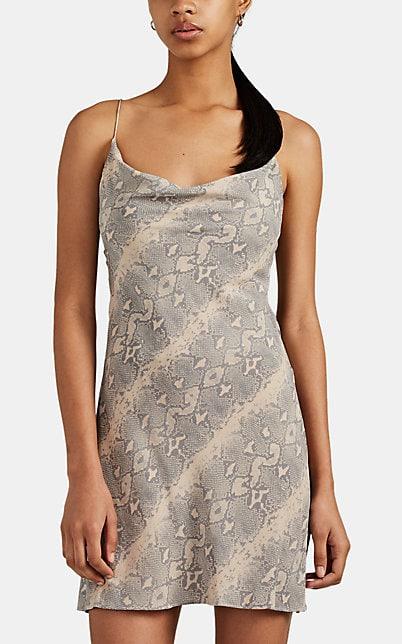 Ksubi Viper Python-Print Silk Slipdress | Barneys New York