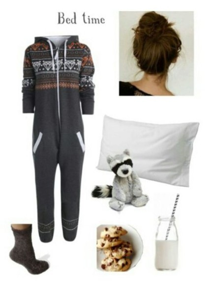 pjs pants onesie aztec pillow bear