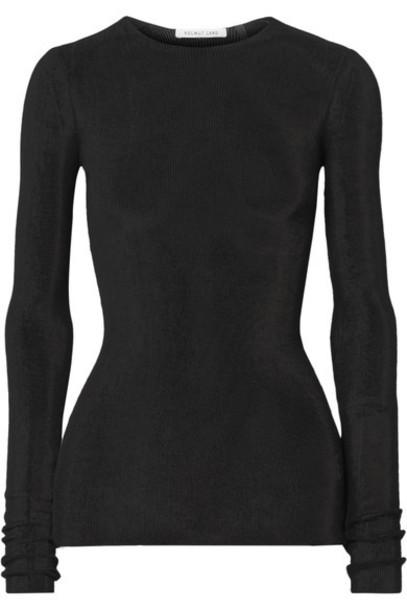 Helmut Lang top open cotton black knit