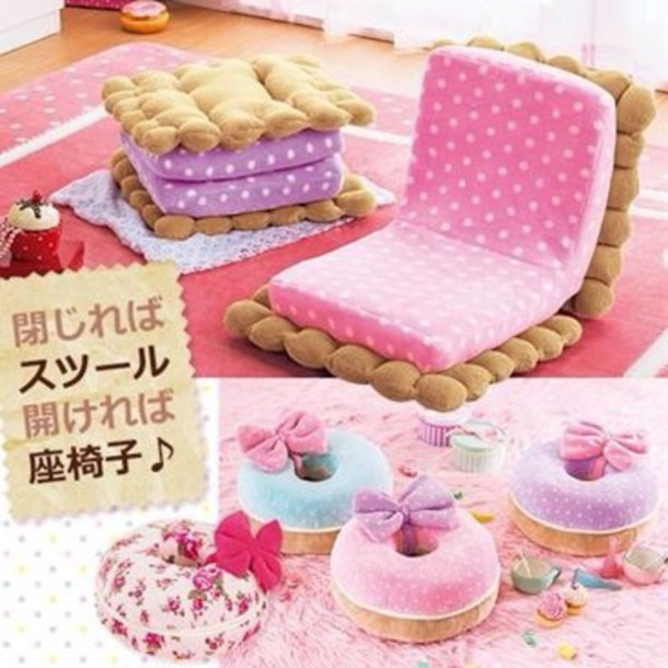 home accessory: food, funny, sofa, kawaii, kawaii accessory, chair