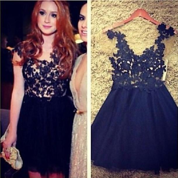 dress black dress mariana ruy barbosa lace dress casual dress party dress