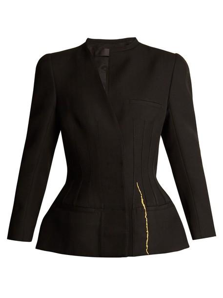 Haider Ackermann jacket wool jacket wool gold black