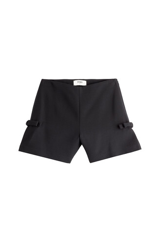 shorts bows silk wool black