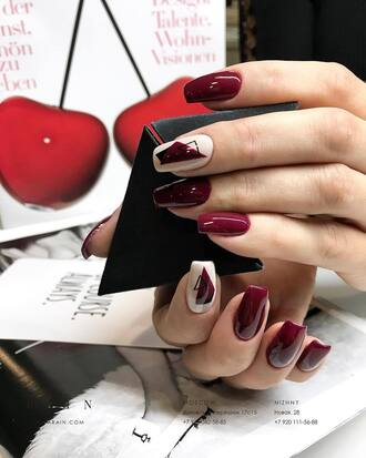 nail accessories nails nail art acrylic nails dark nail polish red nailpolish red nails