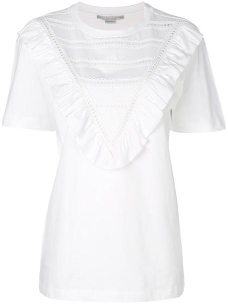 Stella McCartney t-shirt shirt t-shirt women white cotton top