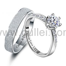 Personalized 0.6 Carat Diamond His and Hers Anniversary Rings Set