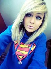 sweater,superman,hoodie,seatshirts
